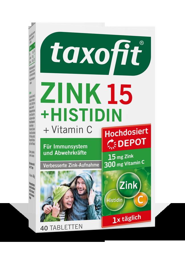 taxofit® Zink 15 + Histidin Depot Tabletten