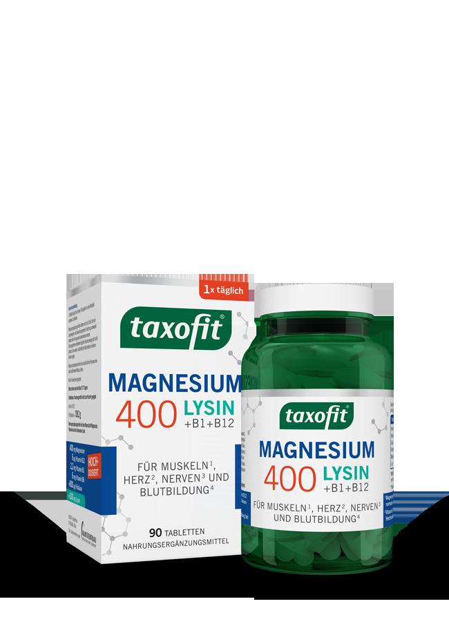 taxofit® Magnesium 400 + Lysin Tabletten