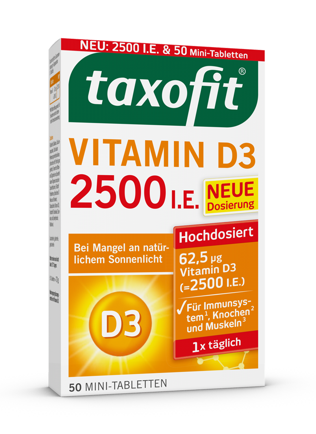 taxofit® Vitamin D3 2500 I.E. Tabletten