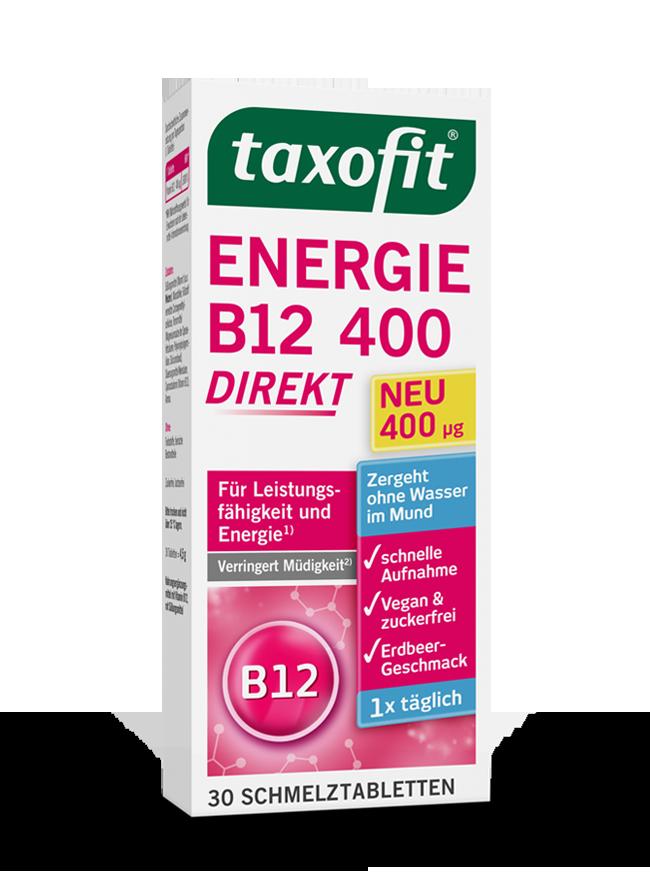 taxofit® Energie B12 400 - direkt Schmelztabletten