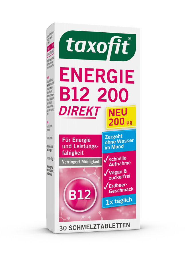 taxofit® Energie B12 200 - direkt Schmelztabletten